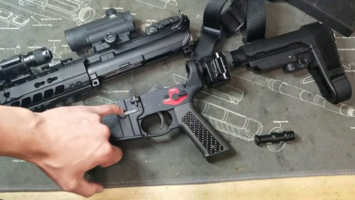 The BFSIII binary trigger from Franklin Armory provides legal rapid-fire function.