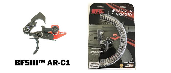 The BFSIII AR-C1 Binary Trigger from Franklin Armory provides legal rapid-fire for various weapons.